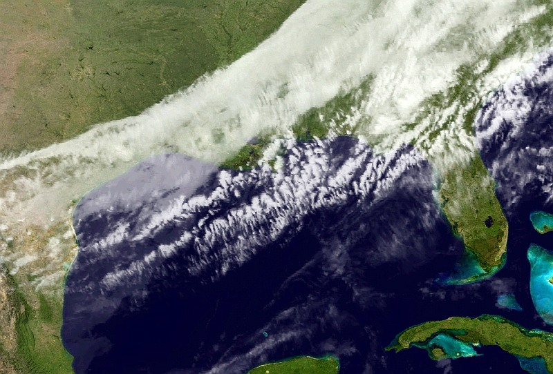 Skies will clear from west to east today, as high pressure moves in. (NOAA)