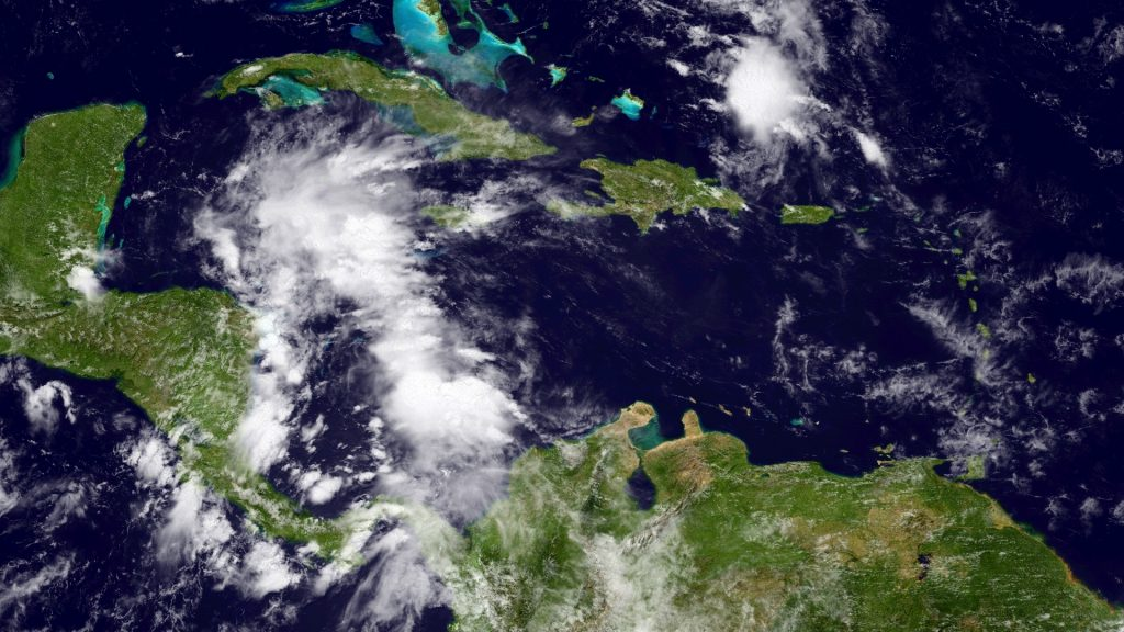 Oh, hi, tropical system in the western Caribbean Sea. (NOAA)