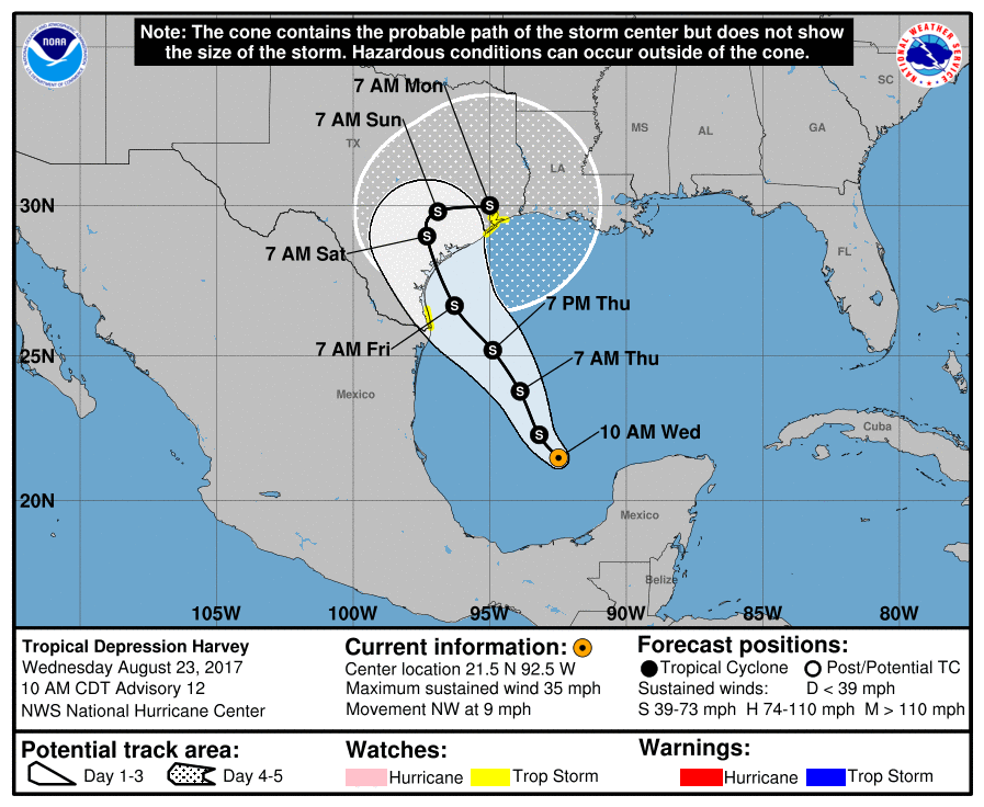 Harvey Redevelops In Southern Gulf Will Bring Major Rains