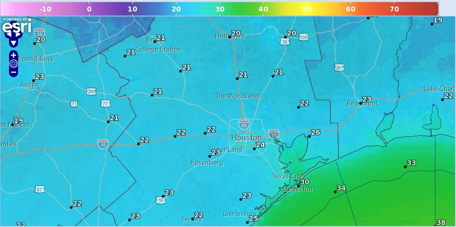 Low Temperature Forecast For Tuesday Night National Weather Service