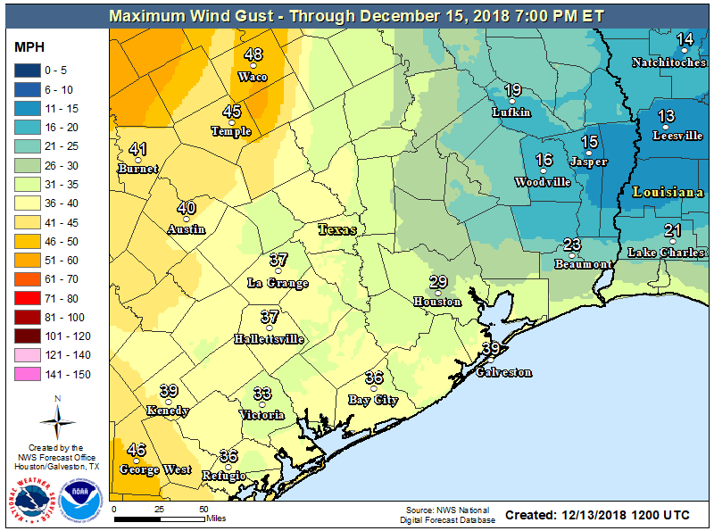 Breezy Front Coming With Cooler Weather Ahead For Houston Space